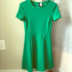 Green shirt sleeved dress